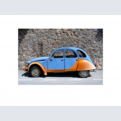 2 CV bleue orange