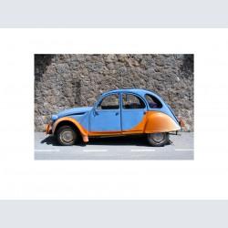 2 CV bleue orange