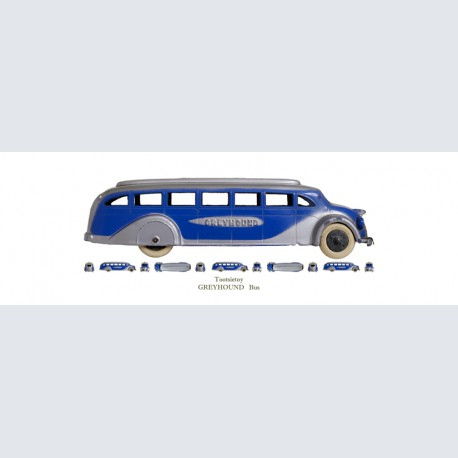 Tootsietoy Greyhound Bus