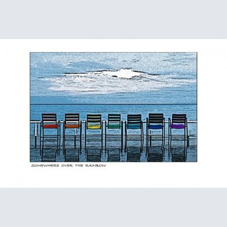 Chaise Bleue H Rainbow