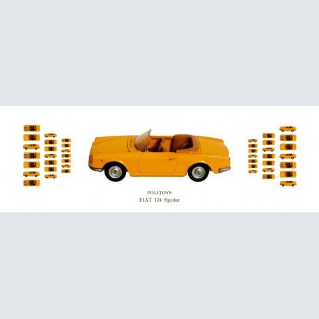 Politoys FIAT 124 Spyder