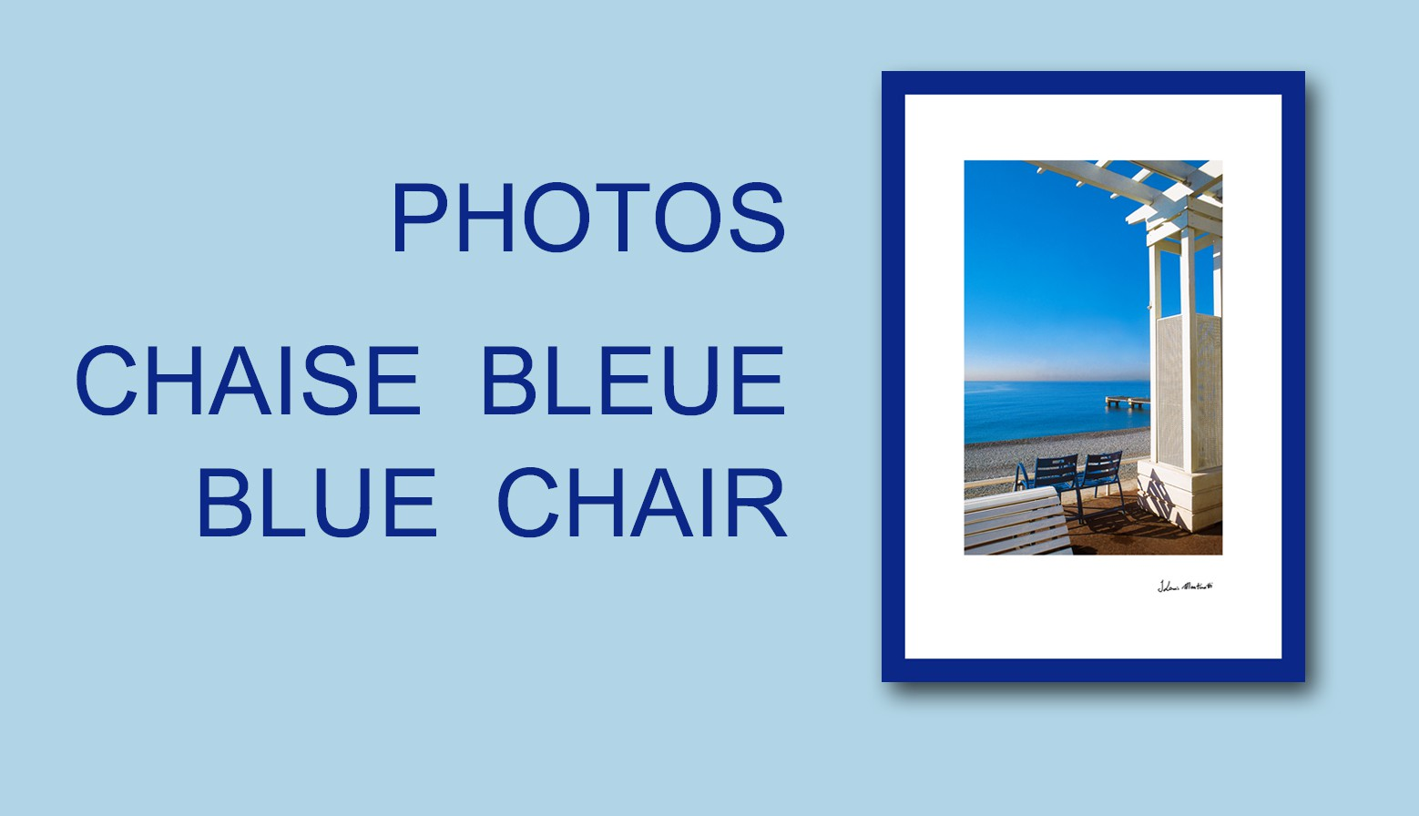 chaise bleue / blue chair